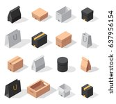 different box vector isometric... | Shutterstock .eps vector #637956154