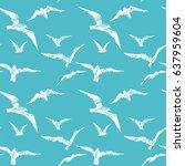 Seagulls. Vector Seamless...