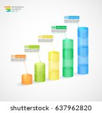 transparent multicolor rising... | Shutterstock .eps vector #637962820