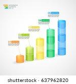 transparent multicolor rising... | Shutterstock .eps vector #637962820