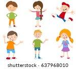 cartoon vector illustration of... | Shutterstock .eps vector #637968010