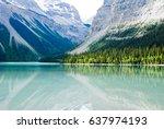 kinney lake at the foot of...