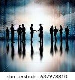 business group concept... | Shutterstock . vector #637978810
