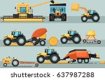modern agricultural vehicle... | Shutterstock .eps vector #637987288