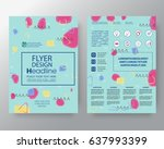 business templates creative... | Shutterstock .eps vector #637993399