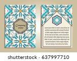 vector set of colorful brochure ...   Shutterstock .eps vector #637997710