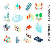 shopping mall elements... | Shutterstock .eps vector #638000140