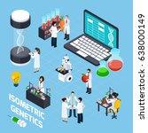 genetics composition with dna... | Shutterstock .eps vector #638000149