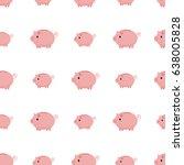 pink piggy bank seamless... | Shutterstock .eps vector #638005828