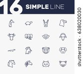 Set Of 16 Alive Outline Icons...