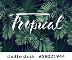summer tropical vector design... | Shutterstock .eps vector #638021944