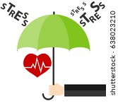 heart under an umbrella ... | Shutterstock .eps vector #638023210