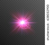 bright and glowing purple and... | Shutterstock .eps vector #638032900