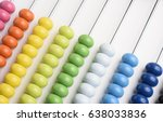 close up abacus on white...   Shutterstock . vector #638033836