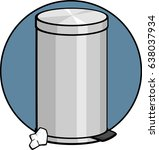 closed trash can | Shutterstock .eps vector #638037934