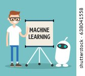 machine learning conceptual... | Shutterstock .eps vector #638041558