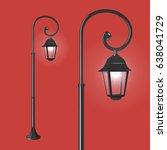 street lantern on red... | Shutterstock .eps vector #638041729