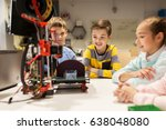 education  children  technology ... | Shutterstock . vector #638048080
