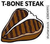 an image of a t bone steak.   Shutterstock . vector #63804991