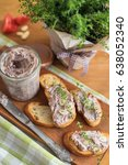 bean pate with garlic and thyme ... | Shutterstock . vector #638052340