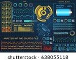futuristic blue virtual graphic ... | Shutterstock .eps vector #638055118