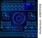 futuristic blue virtual graphic ... | Shutterstock .eps vector #638055328