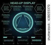futuristic blue virtual graphic ... | Shutterstock .eps vector #638055370