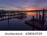 sunrise on rock creek maryland | Shutterstock . vector #638063539