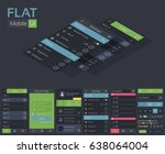 mobile flat ui design template...