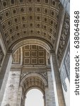 the arc de triomphe is one of... | Shutterstock . vector #638064868