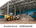 the bulldozer will clean the... | Shutterstock . vector #638066668