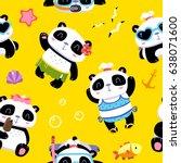vector cartoon kawaii style... | Shutterstock .eps vector #638071600