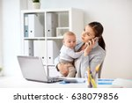 business  motherhood  multi... | Shutterstock . vector #638079856
