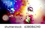 abstract colorful moon... | Shutterstock . vector #638086240