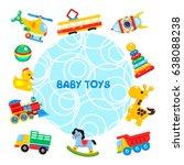 vector illustration of toys... | Shutterstock .eps vector #638088238