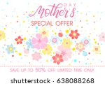 mothers day special offer... | Shutterstock .eps vector #638088268