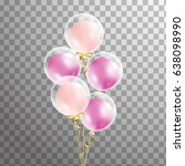 bunch of balloons isolated in... | Shutterstock .eps vector #638098990