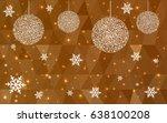 light orange vector christmas... | Shutterstock .eps vector #638100208