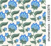floral seamless pattern ... | Shutterstock .eps vector #638102878