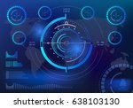 futuristic blue virtual graphic ... | Shutterstock .eps vector #638103130