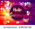 summer. | Shutterstock .eps vector #638106730