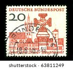 germany   circa 1988  a stamp... | Shutterstock . vector #63811249