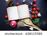 notepad for your recipe with... | Shutterstock . vector #638115580