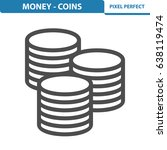 money   coins icon.... | Shutterstock .eps vector #638119474