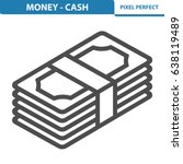money   cash icon. professional ... | Shutterstock .eps vector #638119489