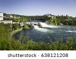 the rhine falls on the high...