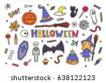 sketchy colorful fun vector... | Shutterstock .eps vector #638122123