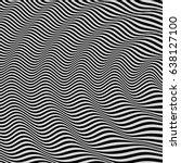 3d wavy background. dynamic... | Shutterstock .eps vector #638127100