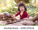 7 month old baby boy. dressed... | Shutterstock . vector #638129626