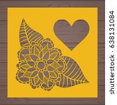 die cut card. laser cut vector... | Shutterstock .eps vector #638131084